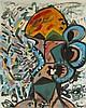 Maryan (Pinchas Burstein) (1927-1977)  Personnage, huile sur toile, sig, Pincas Burstein Maryan, CHF4,000
