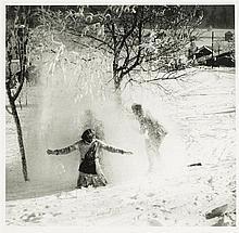 Jacques-Henri Lartigue (1894-1986)  Chamonix. Janvier 1919, épreuve arg