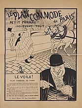 Felix Vallotton (1865-1925)  Le plan commode de Paris, lithographie sig