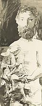 D'après Pablo Picasso (1881-1973)  Homme au mouton, lithographie signée