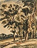 André Dunoyer de Segonzac (1884-1974)  Les arbres au bord du canal, aqu, Andre Dunoyer de Segonzac, CHF400