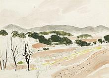 André Dunoyer de Segonzac (1884-1974)  Provence, aquarelle et encre sur