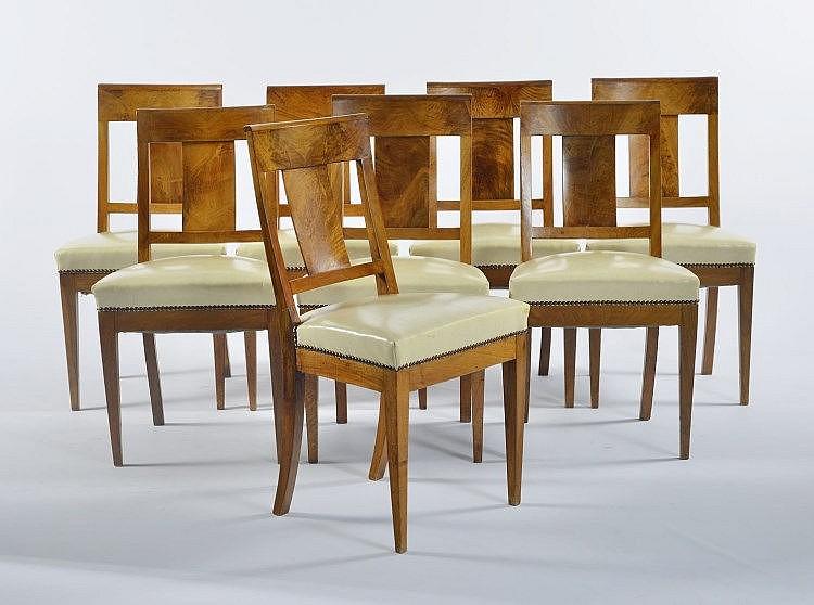Suite de 8 chaises barreaux d 39 poque directoire for Chaise a barreaux