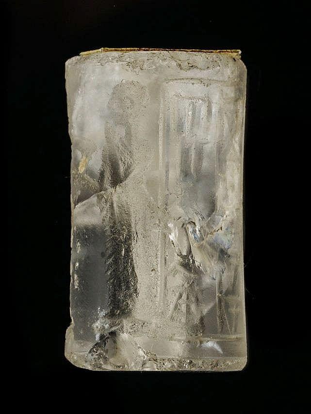 Sceau-cylindre fragmentaire, cristal de roche, IIIe dynastie d'Ur, 2112-2004 av. JC