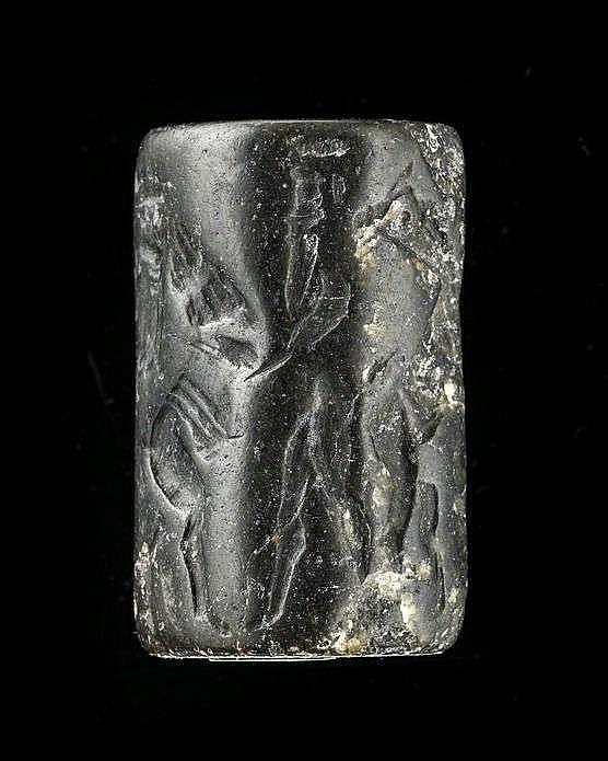 Sceau-cylindre, diorite, Akkad, 2340-2150 av. JC