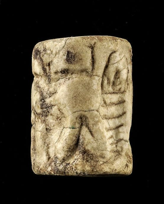 3 sceaux-cylindres, marbre, dynastie archaïque, tôt, 2900-2600 av