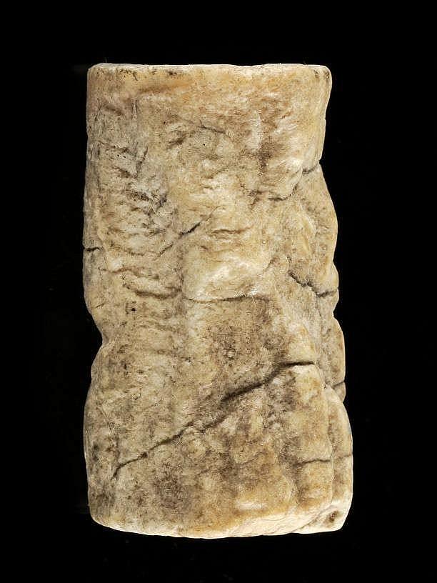 6 sceaux-cylindres, calcaire, marbre, lapis lazuli et coquillage, dynastie archaïque, 2900-2340 av. JC