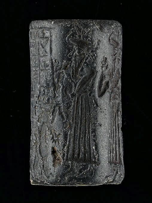 Sceau-cylindre, hématite, Akkad, 2340-2150 av. JC