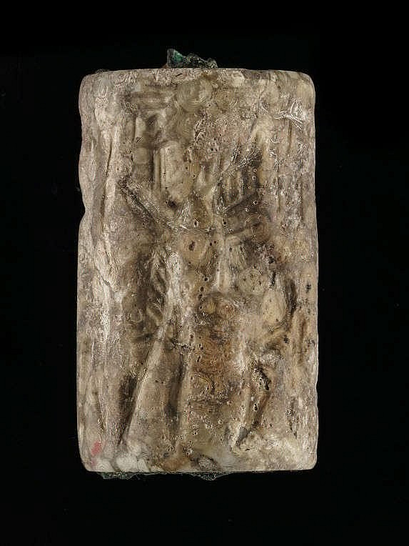 2 sceaux-cylindres, calcaire, Akkad, 2340-2150 av. JC