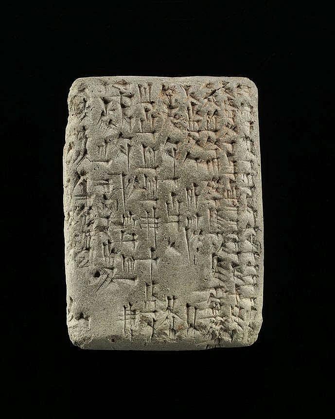 Tablettes cunéiformes rectangulaire, néo-babylonien (1000-539 av. J-C)