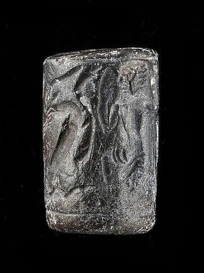 3 sceaux-cylindres, hématite, Syrie, 2000-1500 av. JC