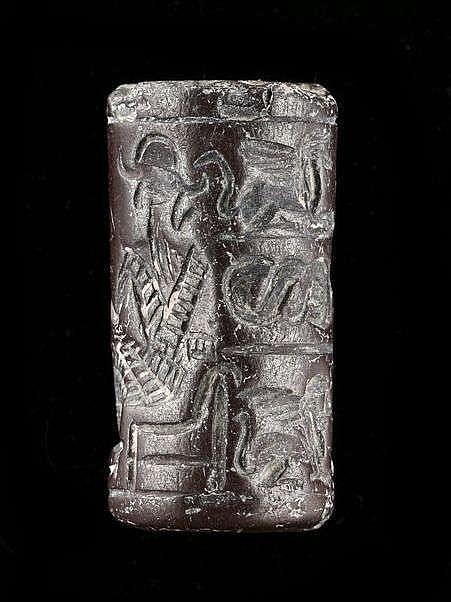 Sceau-cylindre, hématite, Syrie, 2000-1500 av. JC