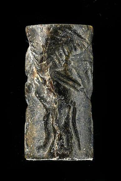 3 sceaux-cylindres, stéatite et lapis-lazuli, dynastie archaïque, tardif, 2600-2340 av. JC