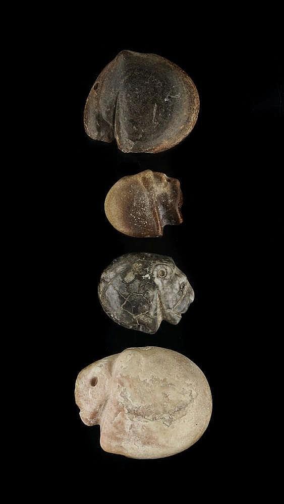 4 sceaux figurant des profils de tête de lion, marbre, Djemdet Nasr, 3000-2900 av. JC