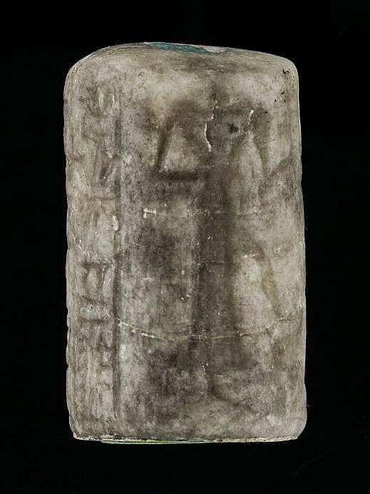 4 sceaux-cylindres, marbre gris et cristal de roche, paléo-babylonien, 2000-1600 av. JC