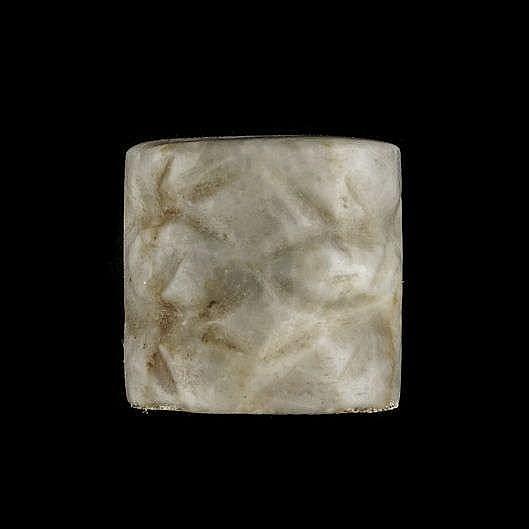 3 sceaux-cylindres, marbre veiné gris et blanc, Djemdet-Nasr, 3000-2900 av. JC