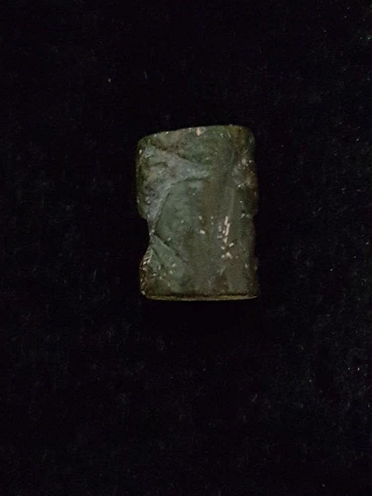6 sceaux-cylindres, marbre, serpentine et stéatite, Djemdet-Nasr, 3000-2900 av. JC
