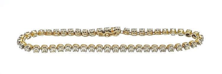 Bracelet tennis serti de diamants (env. 2.5 ct)