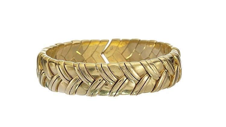 Rolex, bracelet jonc ouvert à motif de chevrons