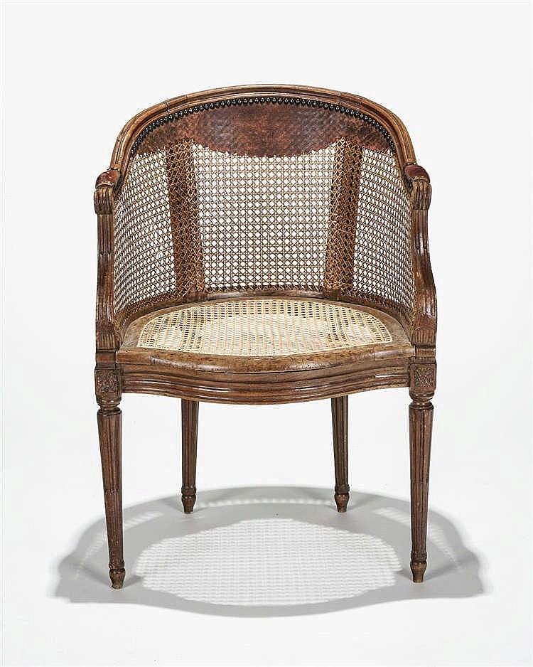 fauteuil de bureau d 39 poque louis xvi. Black Bedroom Furniture Sets. Home Design Ideas