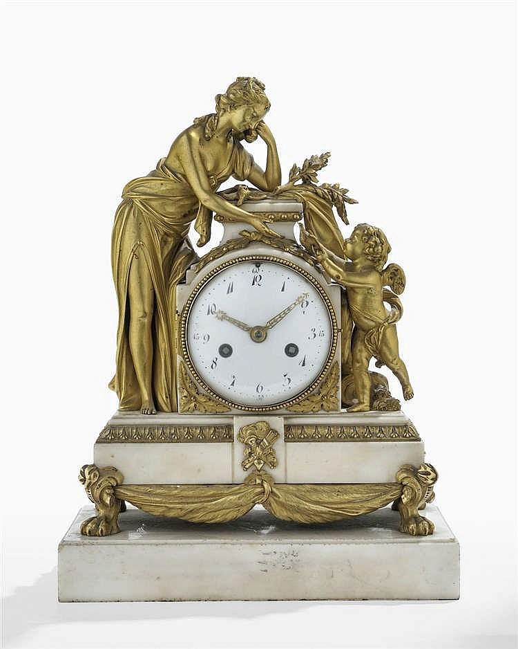 Pendule à l'amour d'époque Louis XVI