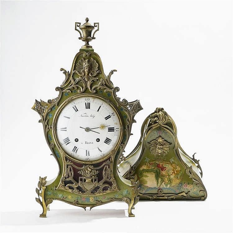 Cartel d'applique et sa console de style Louis XV, Berne