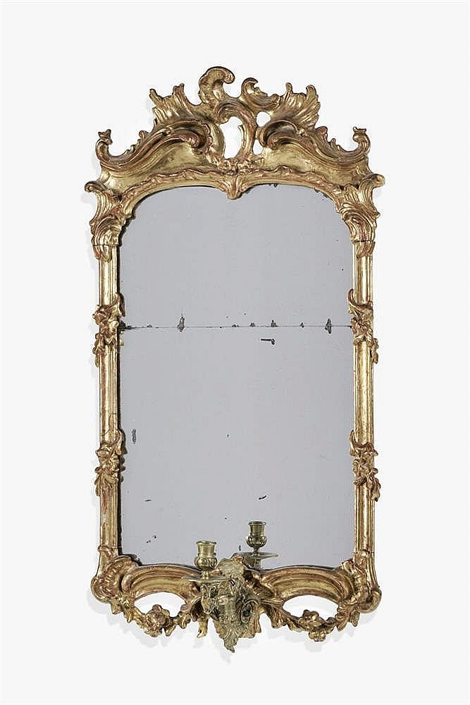 Miroir rococo italie xixe s for Miroir au mercure