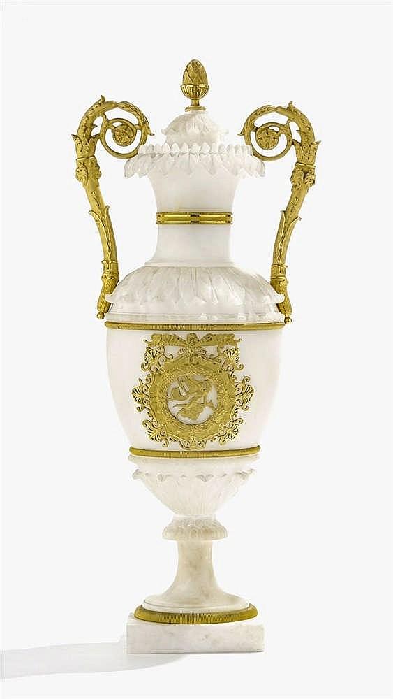 Vase balustre couvert d'époque Restauration