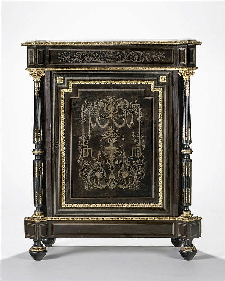 meuble d 39 entre deux d 39 poque napol on iii. Black Bedroom Furniture Sets. Home Design Ideas