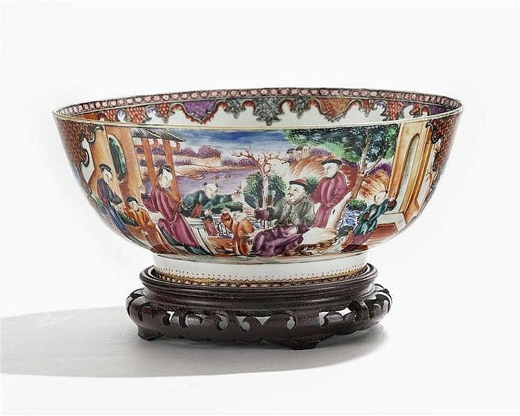 Grand bol mandarin, Chine, époque Qianlong (1735-1796)