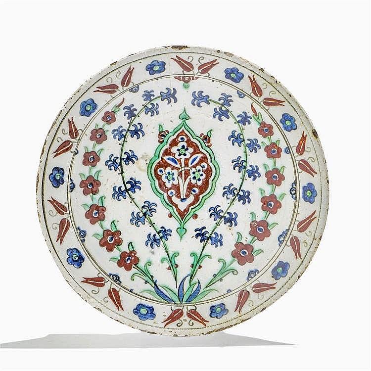Plat, Iznik, Empire ottoman, circa 1600
