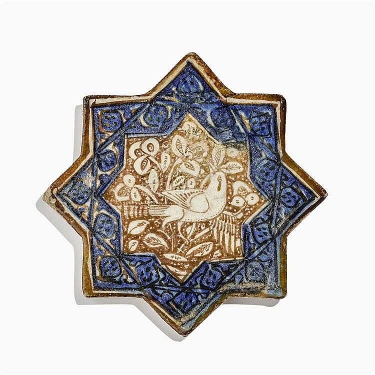 Carreau en forme d'étoile, Iran, Kashan, XIIIe s