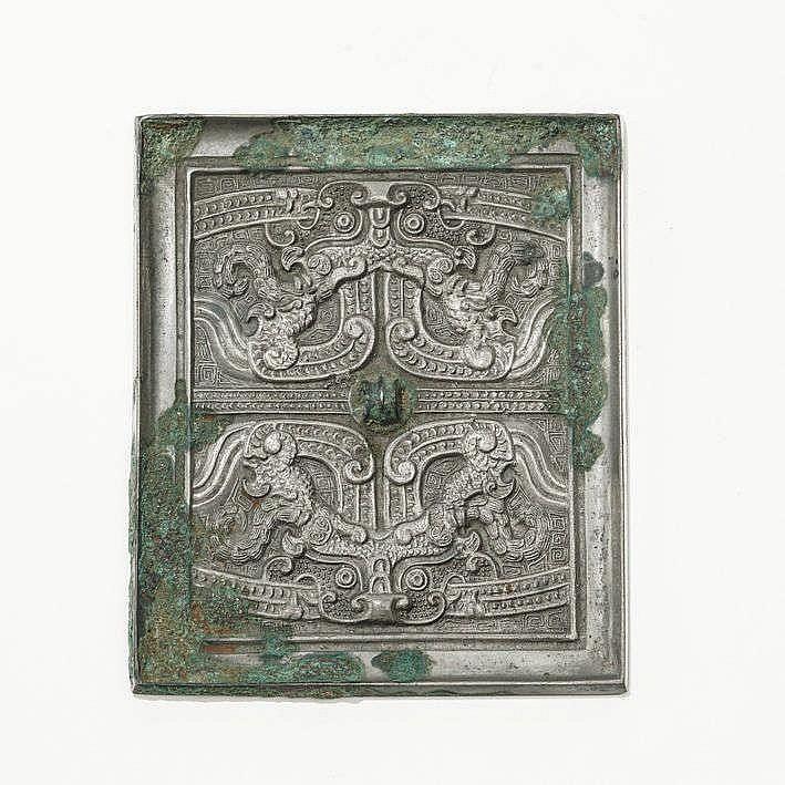 Miroir rectangulaire, Chine, Royaume des Combattants (480-221 av. JC)