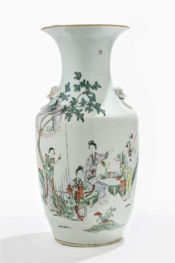 Vase balustre, Chine, fin XIXe s