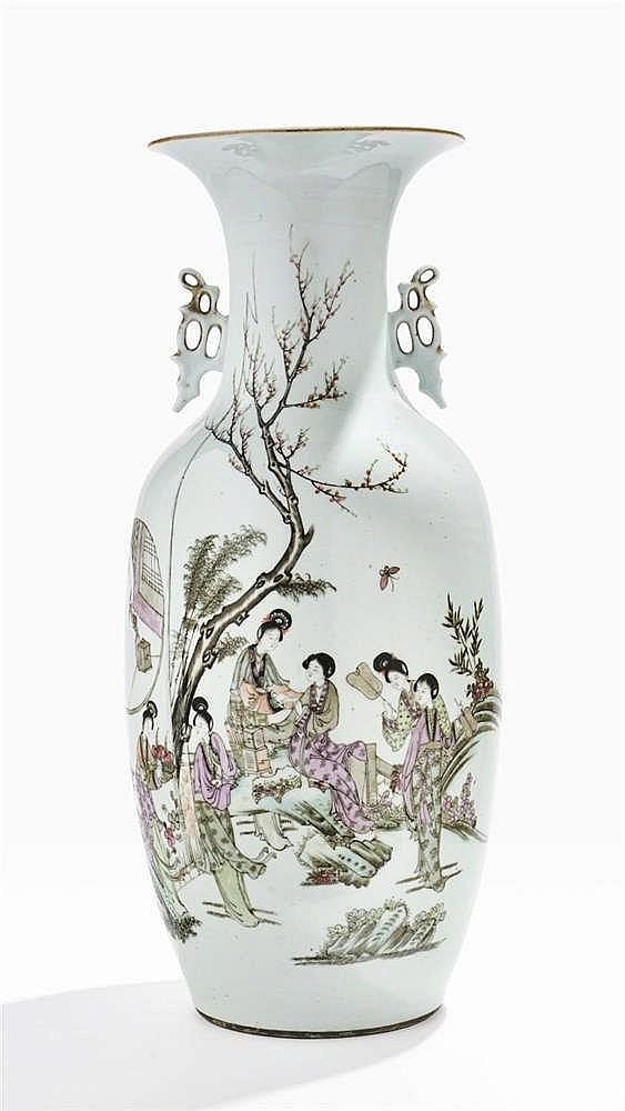 Grand vase balustre, Chine, fin XIXe s