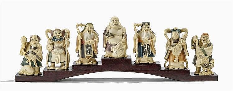 Les sept immortels, Japon, début XXe s