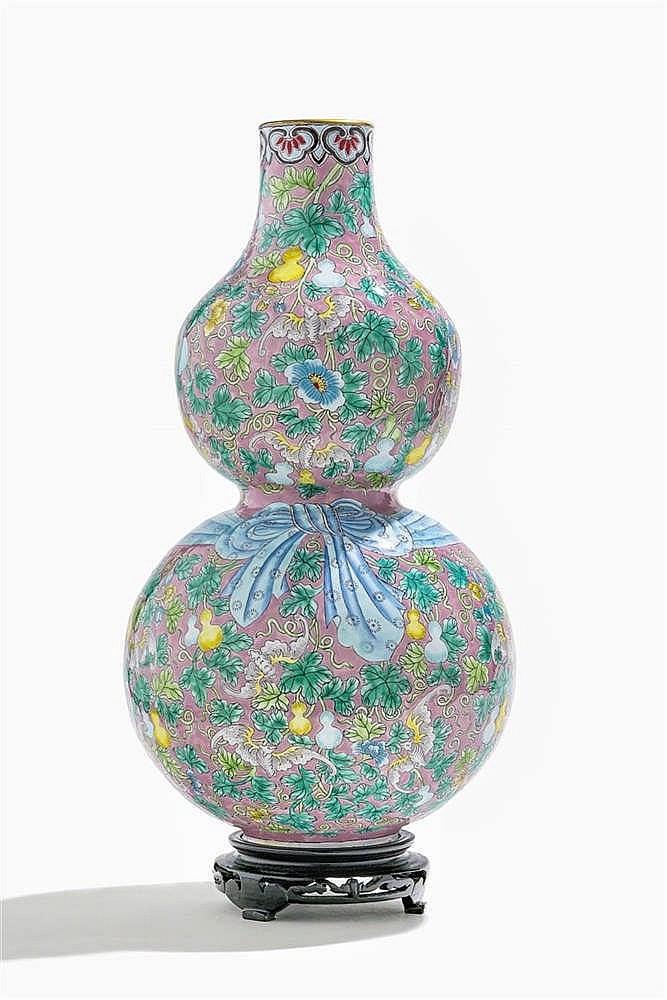 Vase double gourde, Chine, époque Daoguang (1821-1850)