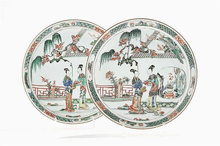 Paire de plats, Chine, dynastie Qing ( 1644-1912)