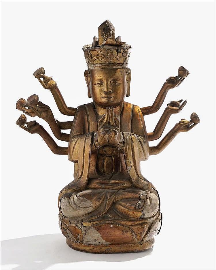 Bouddha Avalokitesvara aux bras multiples, Vietnam, XIXe s