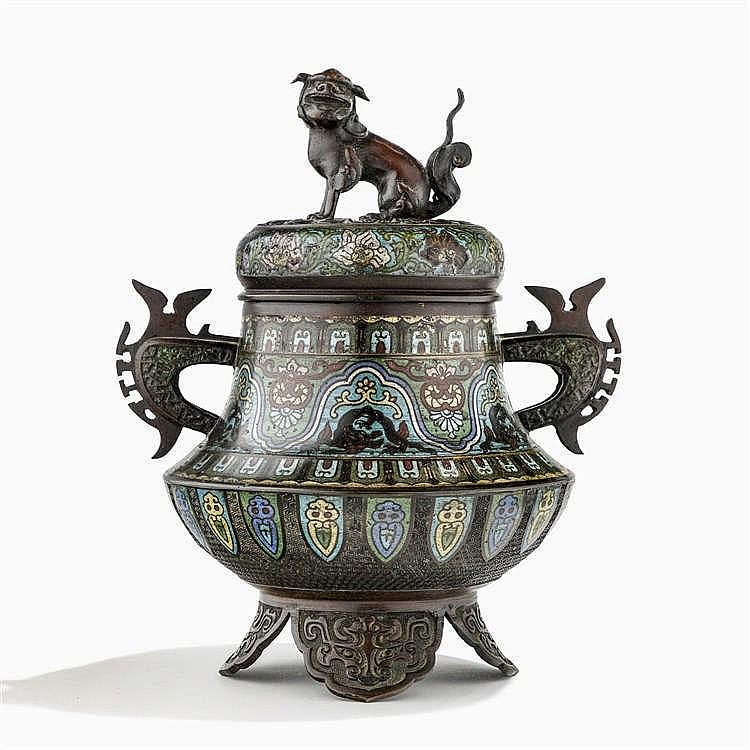 Brûle-parfum, Chine, fin de la dynastie Qing (1644-1912)