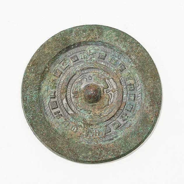 Miroir circulaire, Chine, dynastie Han de l'Ouest (221 av. JC - 9 ap. JC)