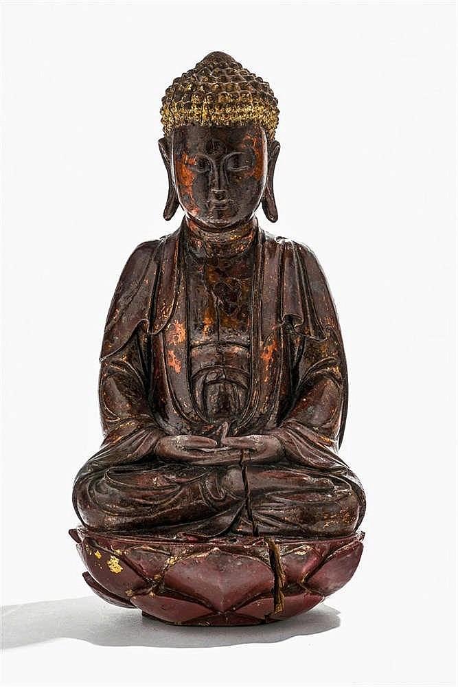 Bouddha en dhyana mudra sur un lotus, Vietnam, XVIIIe-XIXe s