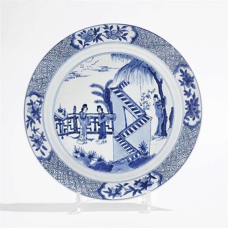 Grande assiette, Chine, marque et époque Kangxi (1654-1722)