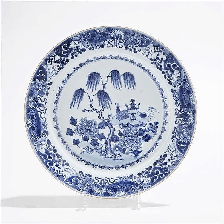 Plat rond, Chine, époque Qianlong (1735-1796)