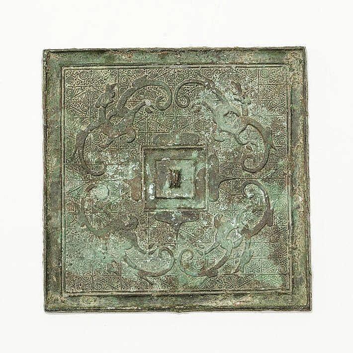 Miroir carré, Chine, Royaume des Combattants (480-221 av. JC)