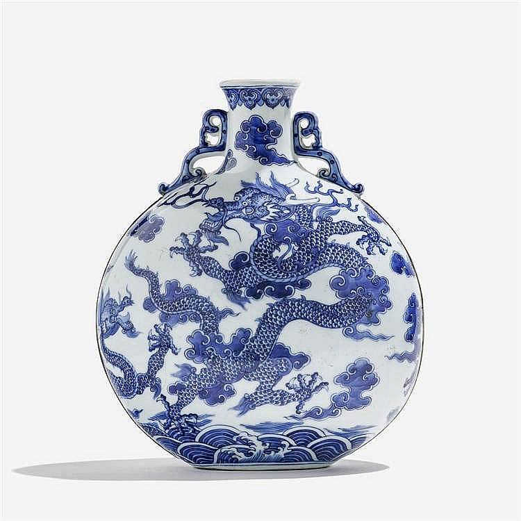 Vase gourde, Chine, marque apocryphe Qianlong (1736-1795), XXe s