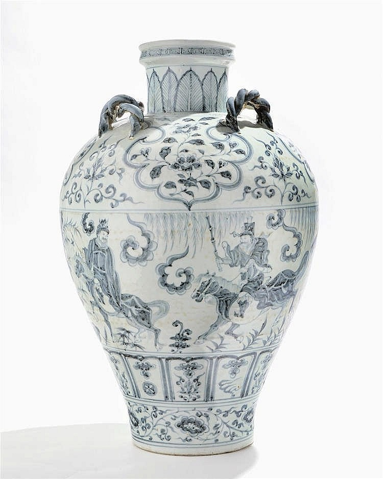 Grand vase, Chine, dynastie Qing (1644-1912)
