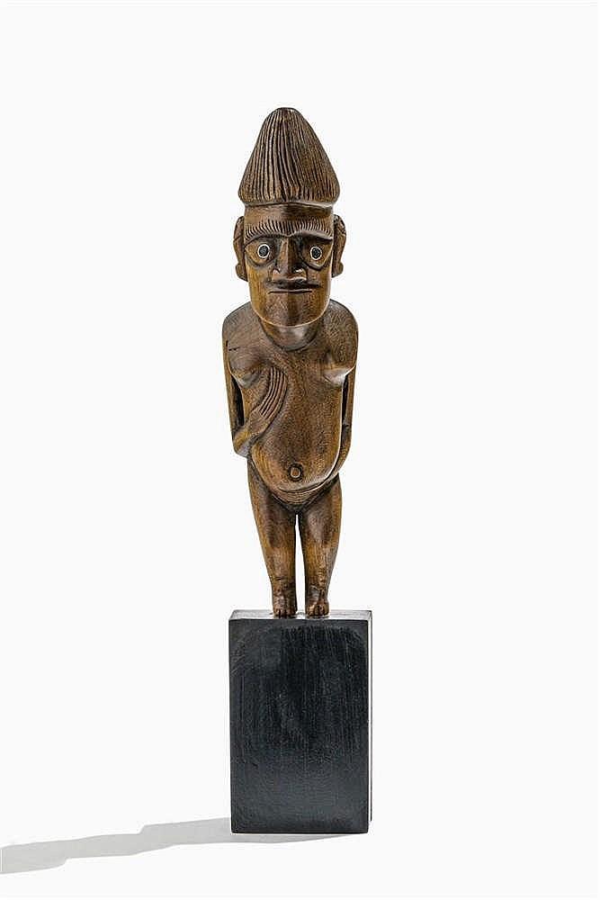 Personnage antropomorphe, Ile de Pâques, culture Rapa Nui, XXe s