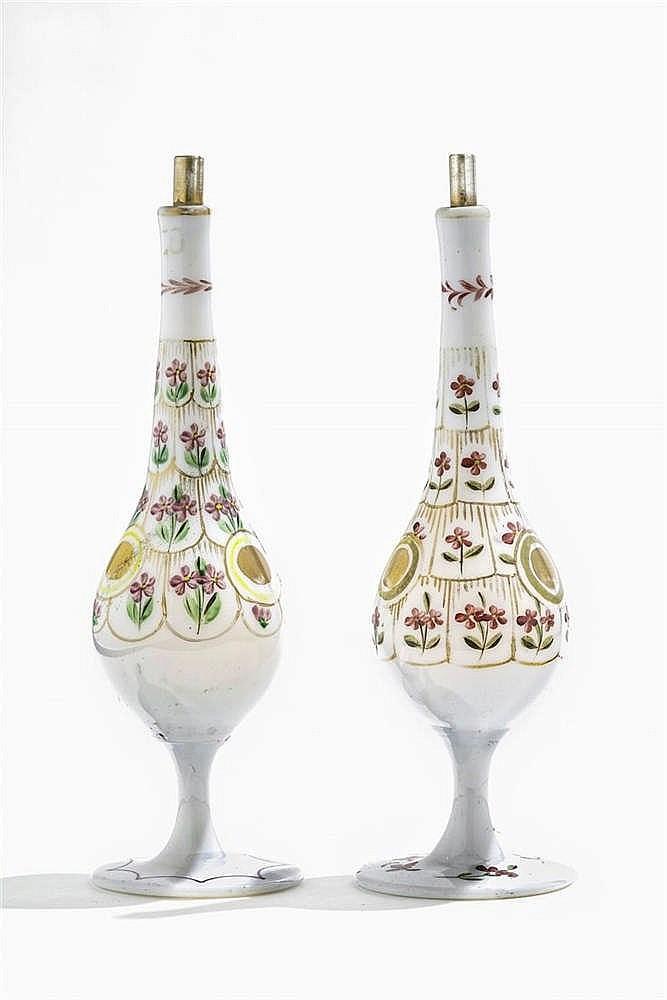 Paire de flacons, Turquie, Beykoz, XIXe s