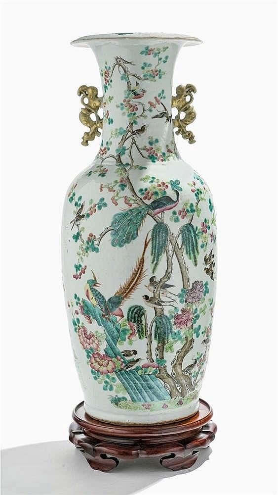 Vase balustre, Chine, XIXe s